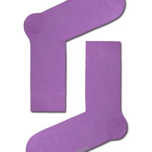 Herensokken felle-kleuren gekaamd katoen, effen, violet, paars,15С-23CP_000, Axelles-Fashion