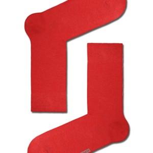 Herensokken felle-kleuren gekaamd katoen, effen, red, rood, 15С-23CP_000, Axelles-Fashion