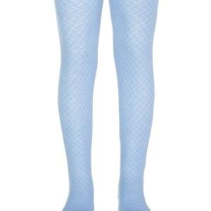 Kinderen maillot met ingeweven geometrisch patroon, lichtblauw, babykousen, ref.300, #Axelles-Fashion