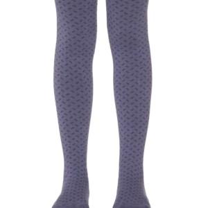 Kinderen maillot met ingeweven geometrisch patroon, blauw, babykousen, 453, Axelles-Fashion.com