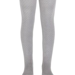 Kinderen maillot met ingeweven geometrisch patroon, lichtgrijs, babykousen, ref.300, #Axelles-Fashion