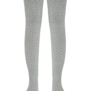 Kinderen maillot met ingeweven geometrisch patroon, grijs, babykousen, 453, Axelles-Fashion.com