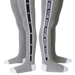 Kinderen maillot met ingeweven logo streep, zwart, mismatched, #Axelles-Fashion