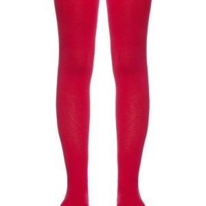 Kindermaillot effen fel rood met patroon, #AxellesFashion