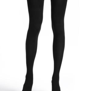 Overknees kousen ondoorzichtig 220-DEN (TRENDY), zwart, Axelles-Fashion