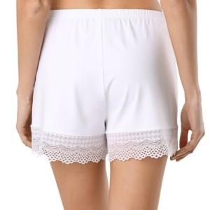 Pyjamashort met kant, Loungekleding, Slipin, LHW 989, white, wit, achterkant, Axelles-Fashion