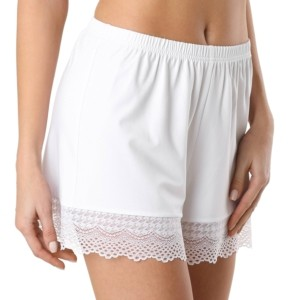 Pyjamashort met kant, Loungekleding, Slipin, LHW 989, white, wit, voorkant, Axelles-Fashion