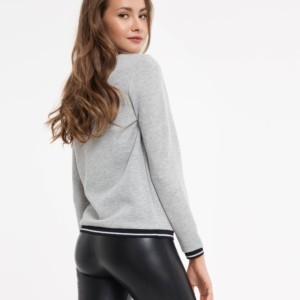 Sweatshirt, trui, lurex draad, grijs, LD 842, Axelles-Fashion