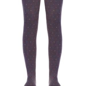 Trendy kindermaillot regenbog puntjes, paars-grijs, Axelles-Fashion
