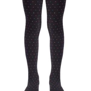 Trendy kindermaillot regenbog puntjes, zwart-multicolor, Axelles-Fashion