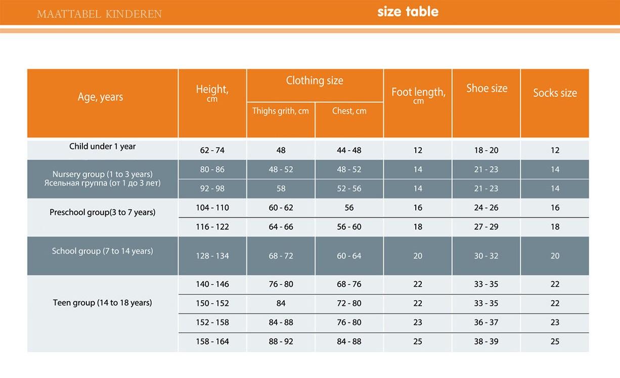 kids size guide-maattabel-kinderen-0-18-jaar