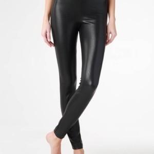 Skinny fit broek leren-look, 19c-853tcp, zwart, black, voorkant, Axelles