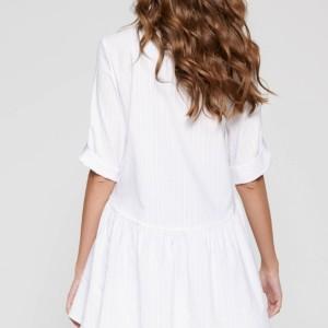 Hemdkleed wijd model, wit, achterkant, LTH 1101, Axelles