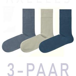 Herensokken gekaamd-katoen, effen 3-pack. 5С-08CP_mix, Axelles-Fashion