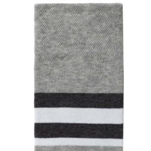 Herensokken gestreept, grijs, maat 42-43, details, Axelles-Fashion