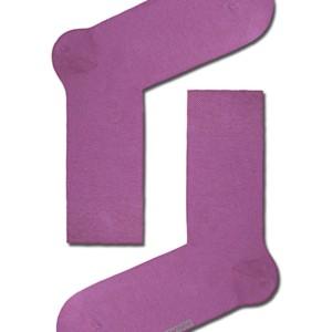 Herensokken felle kleuren in gekaamd katoen, effen, paars, 15С-23CP_mix-2 Axelles-Fashion