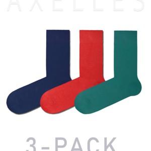 Herensokken felle-kleuren gekaamd katoen, (3-pack), rood, blauw, turquoise, 15С-23CP_mix-1, Axelles-Fashion
