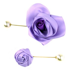 Lapel pin flower & pearl, Axelles-Fashion
