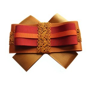 Bowknot brooche gentil lace, t-shirt bow, Brown-Orange-Bordeaux, ACC_10_color_03_brooch_00, Axelles-Fashion