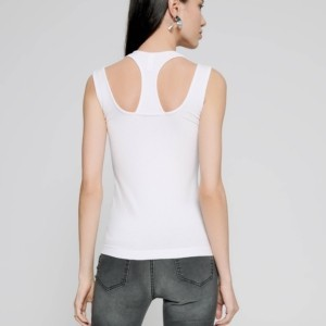 Viscose topje dubbel-bandjes, wit, achterkant, Axelles-Fashion