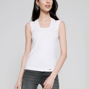 Viscose topje dubbel-bandjes, wit, voorkant, 19C-968ТCP Axelles-Fashion