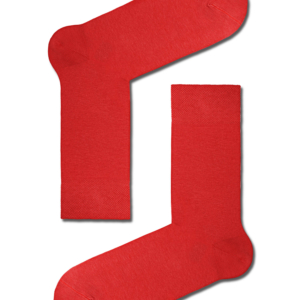 Herensokken klassiek in gekaamd katoen, effen rood