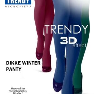 Dikke winterpanty 3D-effect, gekleurd, 150-den, polyamide 90%, elastan 10%