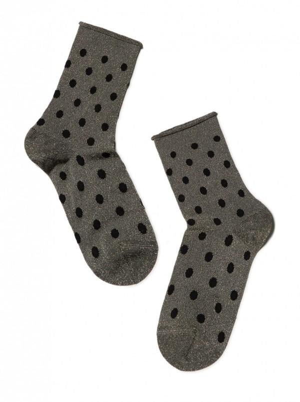 Glitter sokken-in-hakken gestipt, dots, oprolbord.
