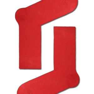 Herensokken felle-kleuren, 3-pack, klassiek, rood.