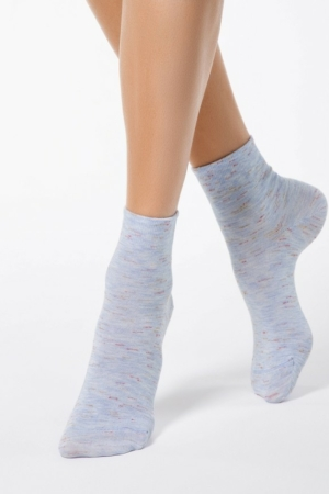 Sokken gemeleerd, paars blauw, AXELLES