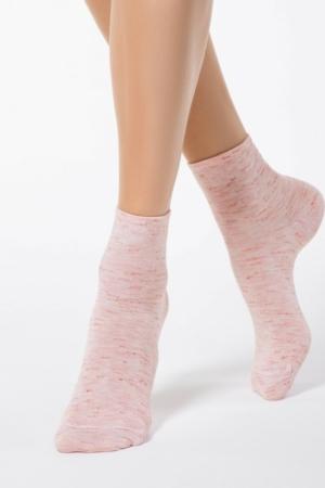 Sokken gemeleerd, roze, AXELLES