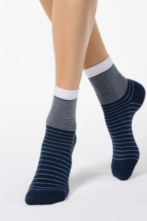 Sokken oplopend gestreept, blauw wit (058), KKzuxwxjr4cgYp3h