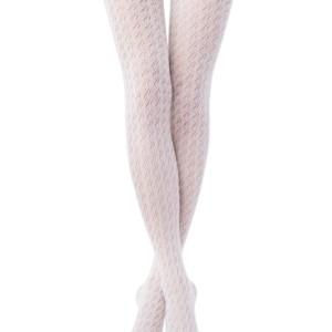 Katoenenpanty 3D-geweven geruit (CHARM), bianco wit