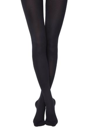 Panty katoen-lycra 450-denier (anatomisch hiel), COTTON-450-denier, zwart.