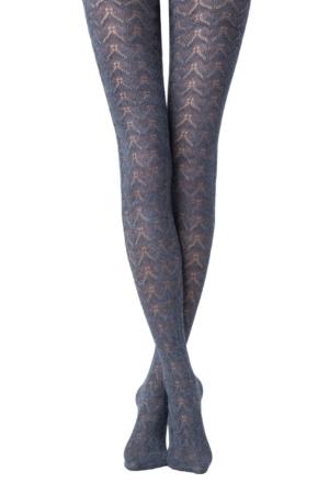 Katoenen panty in-kant 3D-geweven (IMPULSE), denim blauw