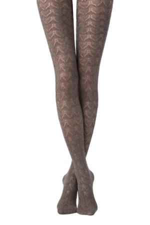 Katoenen panty in-kant 3D-geweven (IMPULSE), caramel bruin
