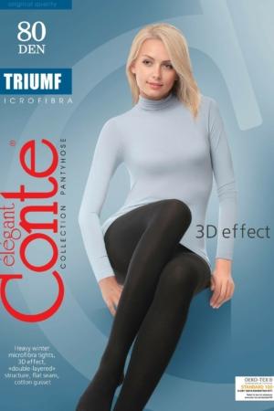 Superdikke panty 3D-effect (TRIUMF 80), nero zwart