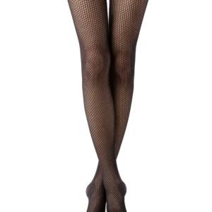 Warme panty mesh-patroon (3D-geweven), nero zwart, grafit grijs