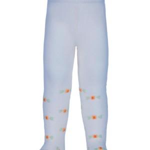 Baby maillot gekleurde bloempjes pastel blauw, 0-12 maand