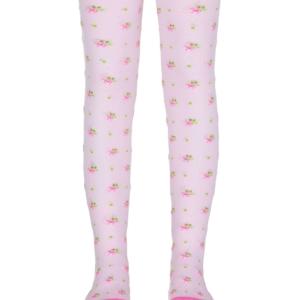 Kinderenmaillot bloemetjes patroon (geweven), licht roze, 433