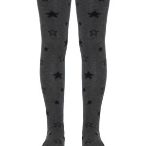 Kinderkousen grote-sterren-patroon, donkergrijs, 543