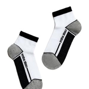 Sneakersokken kids SPORT (gestreept), zwart wit, AXELLES