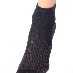 Sneakersokken geweven patroon, elastisch boordje, zwart, (131), AXELLES