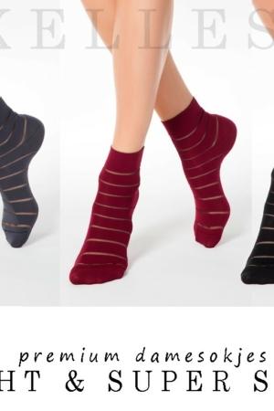 Sokken transparante strepen (MIX-1), 3-PAAR geschenkset, AXELLES