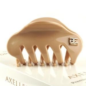 Stijlvol haarklem (sierklem) 8 cm, poeder NUDE (bio-materialen).