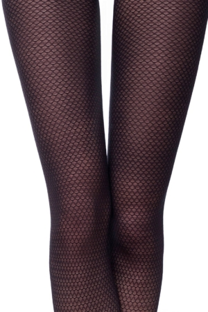 Panty ingeweven print, nero zwart, MANIA (details)