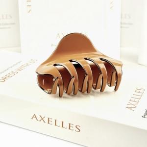 Luxe haarklem (sierklem), coffee-bruin (Medium)