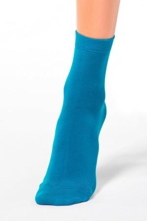 Zachte damessokken in Modal,turquoise, details, AXELLES