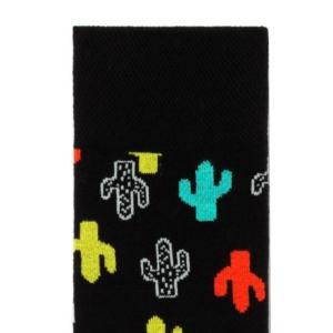 Herensokken cactus patroon, zwart, details, AXELLES