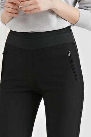 Skinny fit broek zwart, ritszaak, details, AXELLES